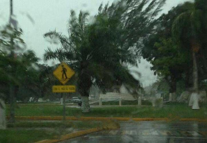 La situación fue provocada por las precipitaciones pluviales que aquejan a Chetumal desde hace 48 horas. (@silvanahdez)