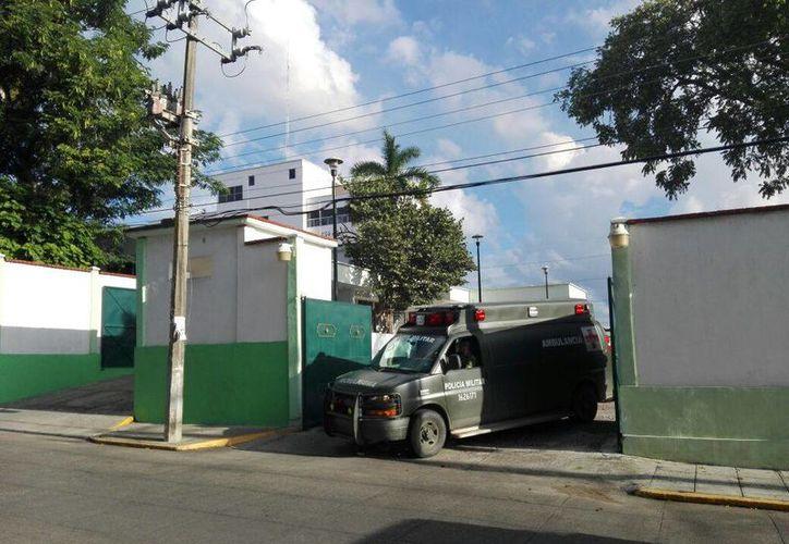 Los militares heridos por el accidente fueron trasladados al Hospital militar de Tamaulipas (Noel Vergara/Milenio)