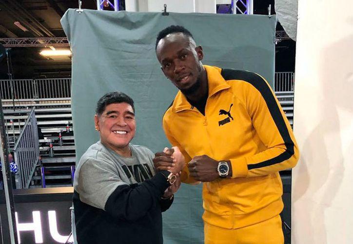 Los rumores sobre la llegada de Usain Bolt a las filas de Dorados de Sinaloa, que dirige Diego Armando Maradona, se han intensificado. (Instagram/@usainbolt)