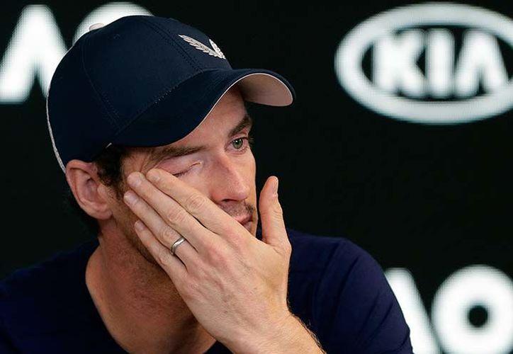 Con lágrimas en los ojos el tenista Andy Murray anunció su posible retiro. (AP)