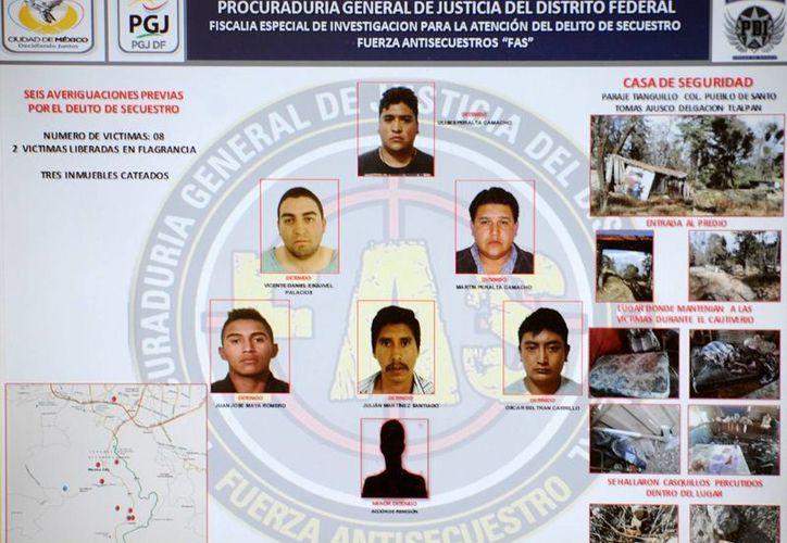 Integrantes de la banda y los casos en que se les relaciona. (http://www.pgjdf.gob.mx)