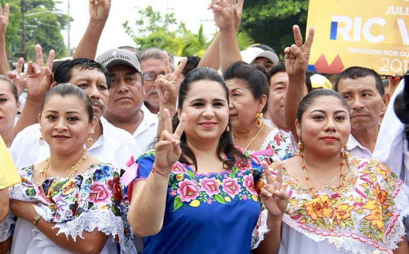 No tiene tranquilidad quien sale a la calle con miedo de que lo asalten, comentó la candidata Mayuli Martínez. (Foto: Redacción)