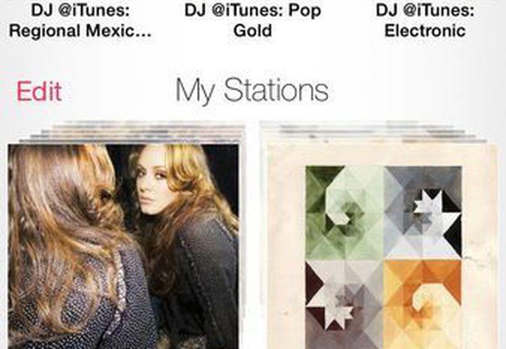 Esta imagen de un iPhone 5 muestra el app de iTunes Radio. (Agencias)