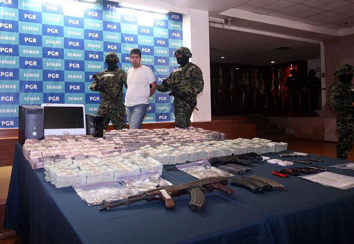 Erick Jovan Lozano Díaz, (a) 'El Chucho', operador financiero de 'Los Zetas'. (Agencia Reforma)