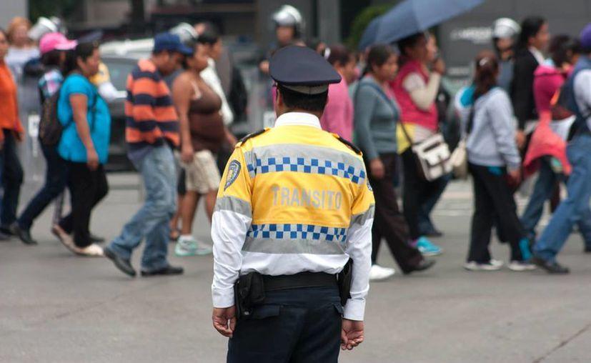 La sección 22 asegura que el control financiero del Ieepo lo han tenido todos los directores del organismo. Imagen de contexto de  una marcha de maestros de la CNTE en la Ciudad de México. (Archivo/Notimex)