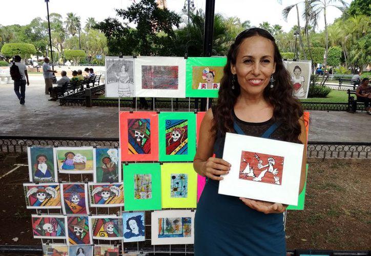 Dubhé Yelem presenta sus obras en distintos lugares de la capital yucateca. (Foto: Milenio Novedades)