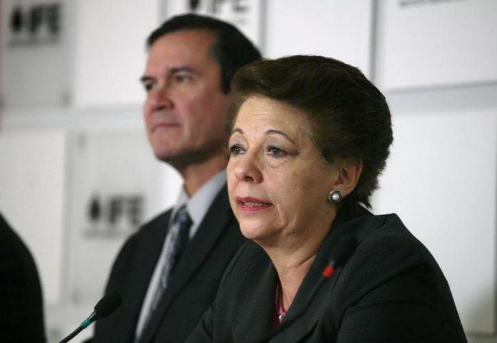 """Marván Laborde dejó en claro, en su primer mensaje como presidenta provisional del IFE, que """"el momento para esta toma de posesión es crítico y no tiene ningún sentido ocultarlo"""". (Notimex)"""