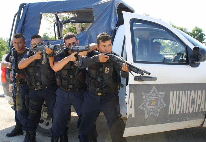 Los regidores tienen la autorización municipal para pedir seguridad policíaca si lo requieren.  (Harold Alcocer/SIPSE)