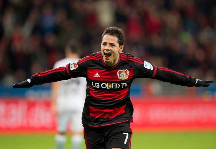 El Bayer Leverkusen recordó el cumpleaños del Chicharito. (Contexto/Internet).