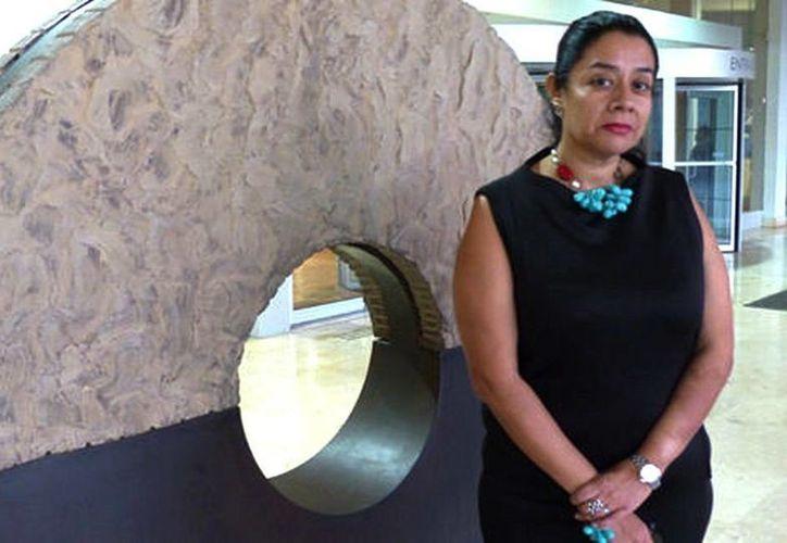 La arqueóloga Adriana Velázquez inauguró el curso de Culturas Prehispánicas que ofrece el Museo de Historia Mexicana de Monterrey. (Gustavo Mendoza Lemus/Milenio)