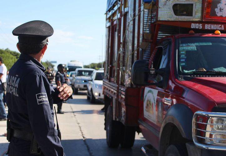 Este miércoles inició oficialmente el operativo de seguridad Guadalupe-Reyes en Tulum. (Rossy López/SIPSE)
