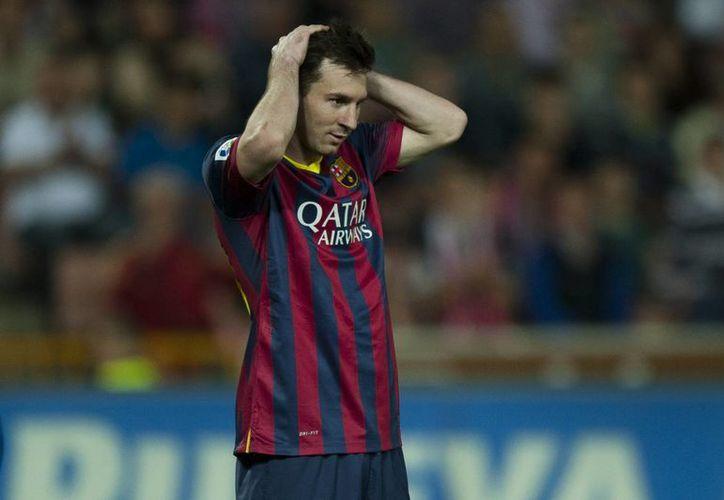 Messi no pudo ayudar a su equipo a remontar. (Foto: Agencias)