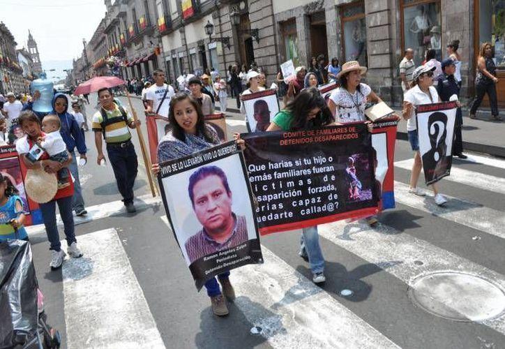 Las desapariciones masivas son cada vez más frecuentes en México y eso deriva en cada vez más protestas. (Notimex/Contexto)