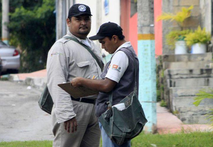 En la capital del estado se pudo notar la presencia de los trabajadores de Vectores. (Harold Alcocer/SIPSE)