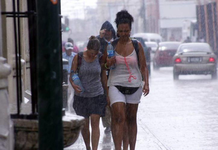 Alrededor de las 15:00 horas se registró una lluvia con viento que no refrescó el ambiente en Mérida. (Christian Ayala/SIPSE)
