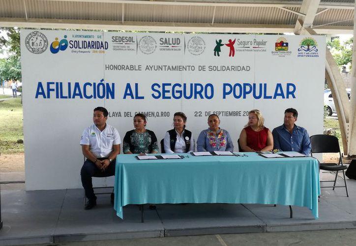 Aumenta el número de inscritos en el seguro popular en Playa del Carmen. (Foto: Adrián Barreto)