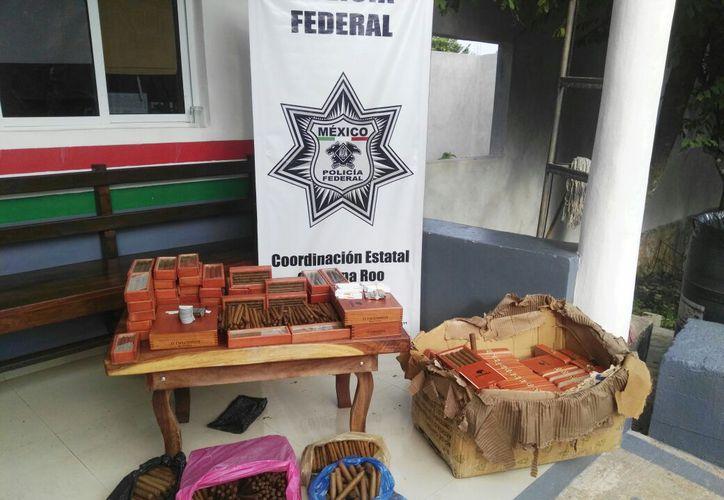 Los puros no contaban con acreditación legal, por lo que fueron asegurados. (Foto: Redacción)