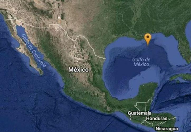 El punto terrestre más próximo está ubicado en el estado de Luisiana en la Unión Americana, a sólo 171 kilómetros al noroeste del epicentro del temblor. (SIPSE)