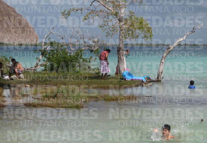 Si la laguna no se atiende de forma inmediata, se perderá el tradicional color del agua. (Foto: Javier Ortíz/SIPSE).