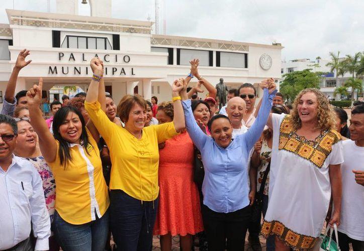 Cristina Torres, virtual presidenta de Solidaridad, aseguró que gobernará con gabinete ciudadano. (Adrián Barreto/SIPSE)