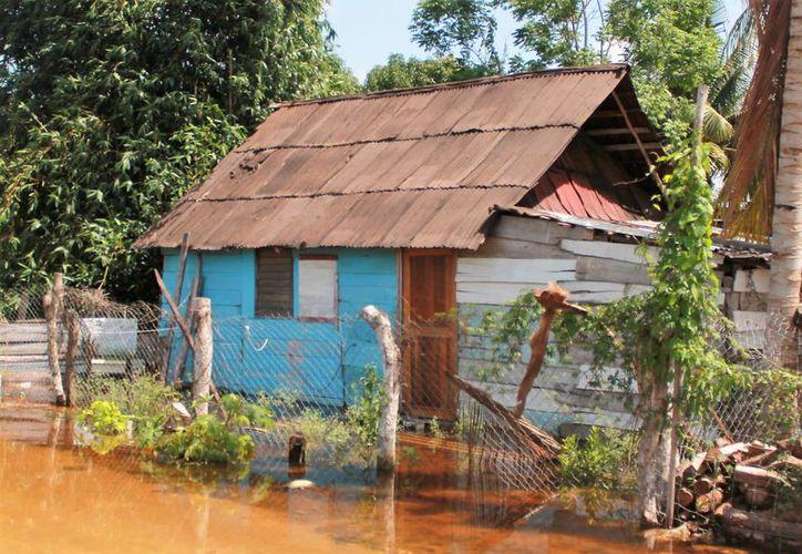 Las familias que tuvieron daños en sus viviendas se encuentran en el comedor comunitario. (Javier Ortiz/SIPSE)