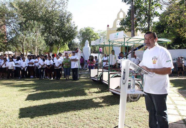 Entre las acciones ambientales realizadas por el alcalde meridano Renán Barrera está la puesta en marcha de 'Se Verde'. (SIPSE)