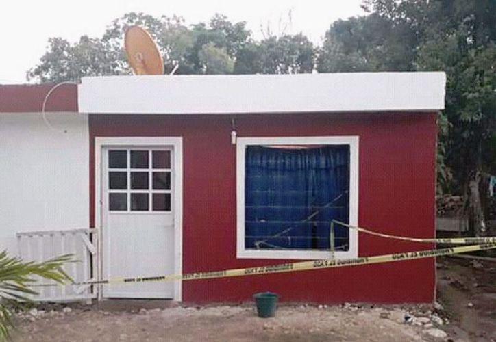El hogar del suicida, quien al parecer enfrentaba problemas con el alcohol. (Novedades Yucatán)