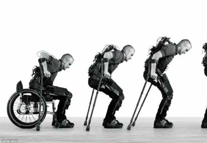 Ilustración de la función del exoesqueleto Twiice. (La Prensa)
