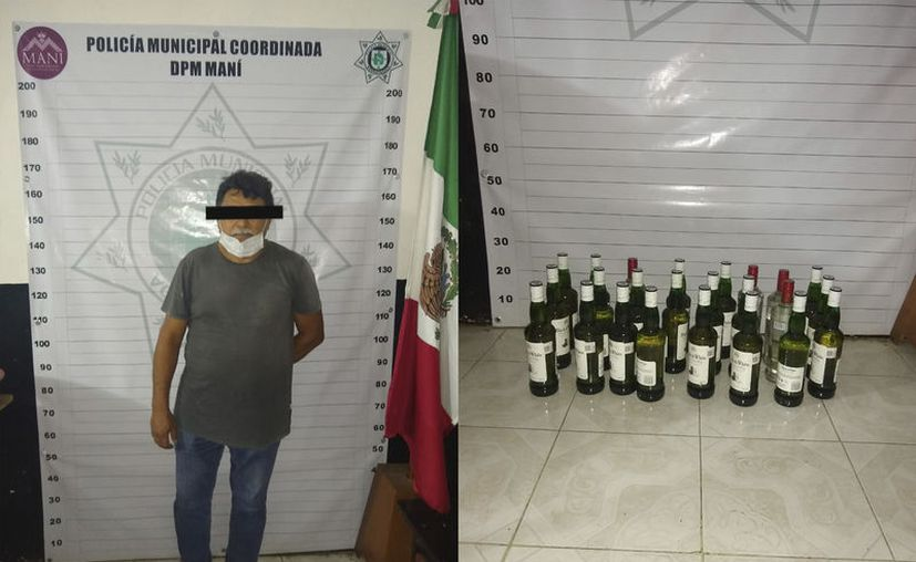 El detenido fue trasladado a la cárcel municipal y el producto fue asegurado.