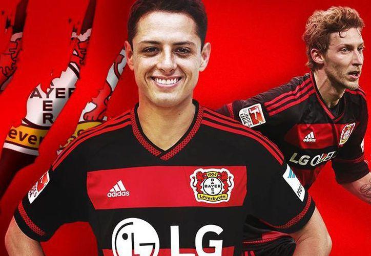 Javier 'Chicharito' Hernández brilla en la Bundesliga: aparece en un video promocional con motivo de la reanudación de los partidos, tras una pausa que abarcó parte de diciembre y de enero. (Facebook/bayer04fussball)