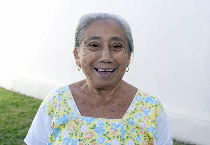 Leovigilda Ek May es un ejemplo de las personas que todavía hablan maya en Yucatán. (Notimex)