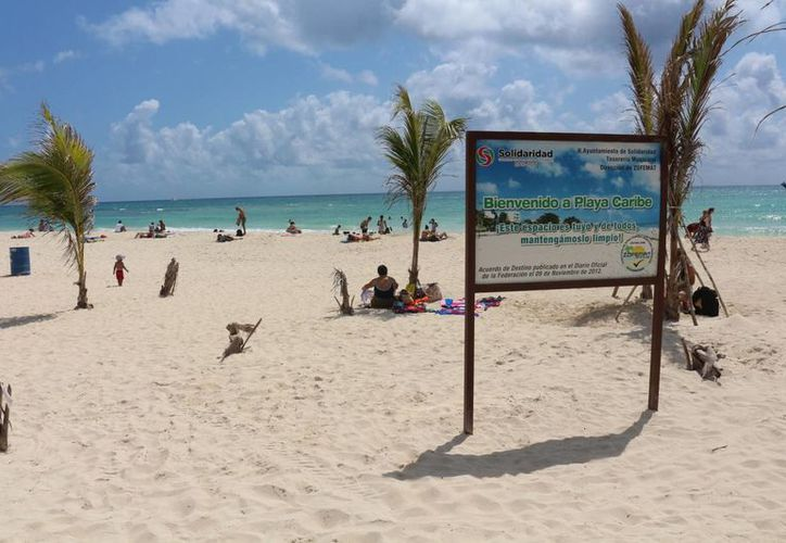 Las playas del municipio de Solidaridad no obtuvieron certificados ambientales y de calidad durante la administración saliente. (Adrián Barreto/SIPSE)