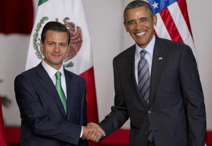 El presidente Peña con el mandatario Obama durante la Cumbre de Líderes de América del Norte que se realizó en Toluca en 2014. (Agencias/Archivo)