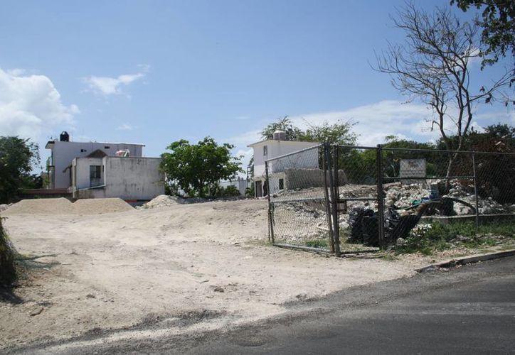 En esta zona se realizan los trabajos del cárcamo de Balan Tún.  (Octavio Martínez/SIPSE)