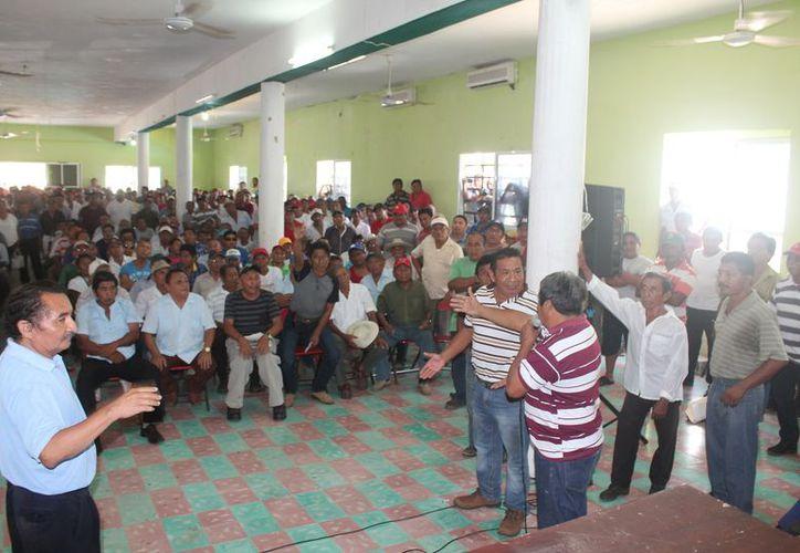 Actualmente existe un grupo de ejidatarios que ha estado sancionado sin derecho a voz y voto. (Raúl Balam/SIPSE)