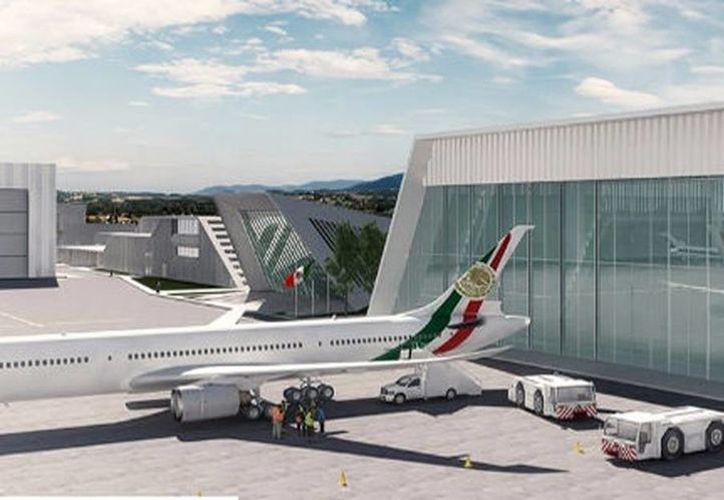 El proyecto del nuevo hangar presidencial planteaba que tendría una vida útil de 30 años. (BNKR Arquitectura)