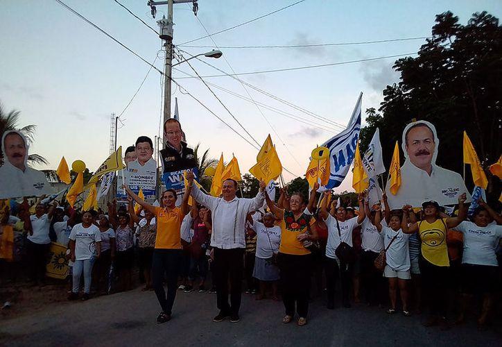"""""""Gobernaremos con la gente, el pueblo manda y no debe seguir siendo víctima de la imposición de obra"""", aseguró José Esquivel. (Redacción/SIPSE)"""