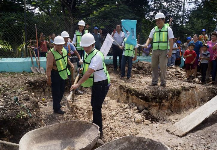 El tanque de agua de 50m3 beneficiará a más de 2 mil habitantes de Mama. (Milenio Novedades)