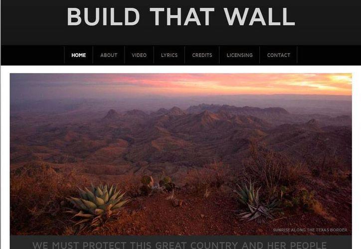 Captura de pantalla del sitio web donde se promociona la construcción del muro fronterizo EU-México. (www.buildthatwall.info)