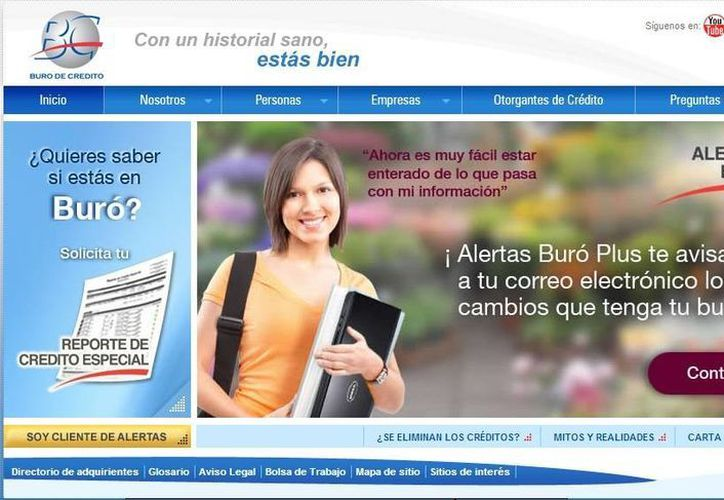 Para acceder a la página no se debe entrar a un buscador sino se debe ir al sitio www.burodecredito.com. (Redacción/SIPSE)