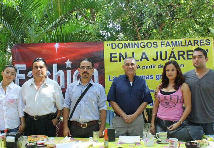 Asociación de Empresarios de la Juárez dieron una rueda de prensa sobre el evento. (Alida Martínez/SIPSE)
