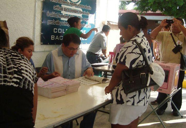 Las casillas sólo servirán para ciudadanos con credencial de elector de Solidaridad. (Octavio Martínez/SIPSE)
