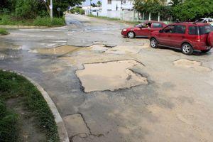 Lluvias duplican el número de baches en Chetumal