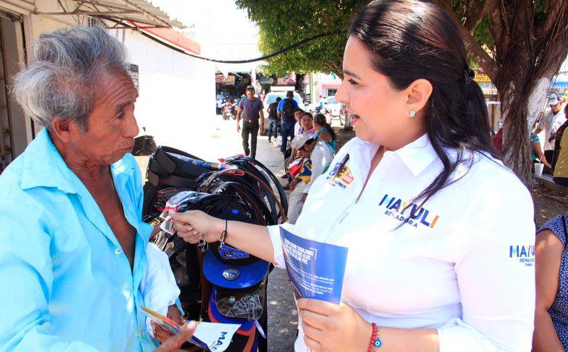 """La candidata al Senado, Mayuli Martínez sostiene que """"nadie por encima del interés ciudadano""""."""