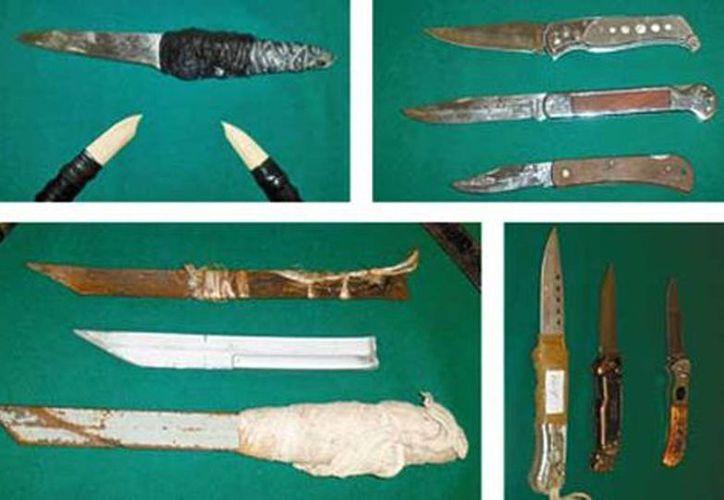 Los internos roban fierros y trozos de vidrio que encuentran en las instalaciones de los penales del Distrito Federal. (Milenio)