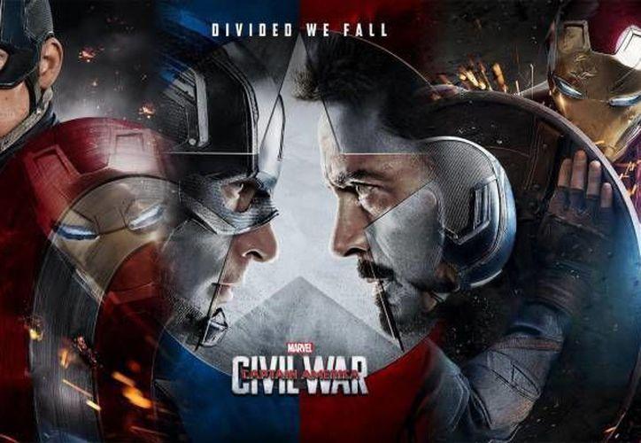 'Capitán América: Civil War' hasta el momento ha recaudado 84 millones de dólares en tres días tras su estreno en algunos países. (Archivo Milenio)