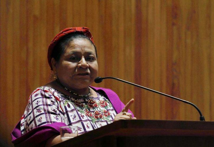 Rigoberta Menchú se exilió en la Ciudad de México en 1983, año en el que publicó el libro 'Me llamo Rigoberta Menchú y así nació la conciencia'. (Archivo/Notimex)