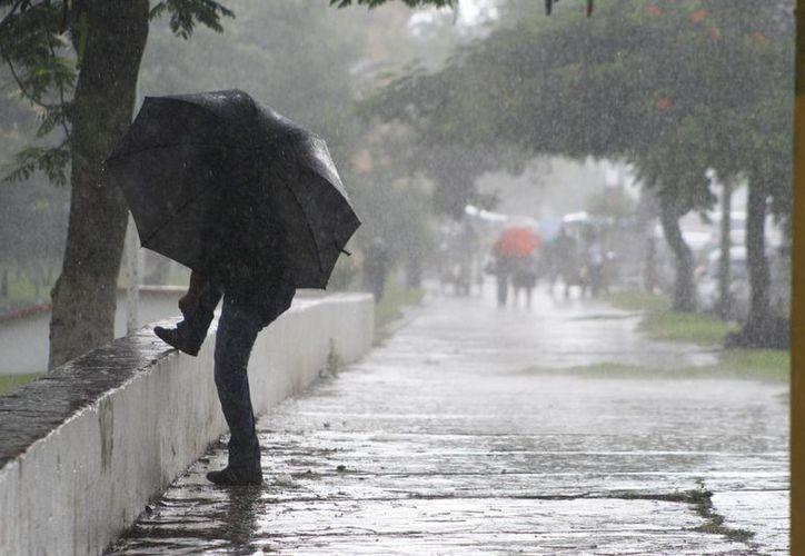 Las lluvias podrían continuar las próximas 24 horas. (Harold Alcocer/SIPSE)