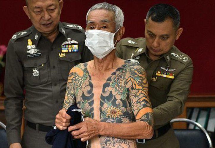 Shigeharu Shirai, de 72 años y jefe de la Yakuza japonesa, fue arrestado en Tailandia. (Foto El Tiempo)