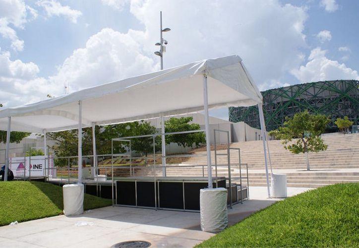 Las instalaciones del Museo del Mundo Maya fueron adecuadas para el evento. (Fotos: Notimex)